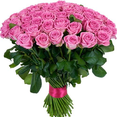 Купить на заказ Букет из 101 розовой розы с доставкой в Зыряновске